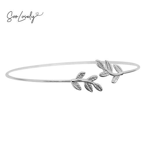 Armband met blaadjes zilver-A014