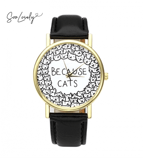 Because cats horloge-H004