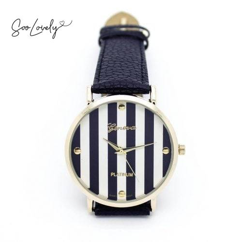 Black striped watch-H007