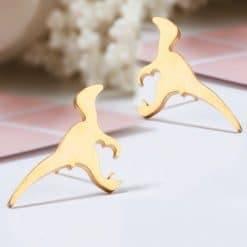 Dino oorbellen goud-TS017