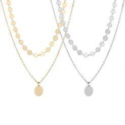 Dubbele coin ketting-K063