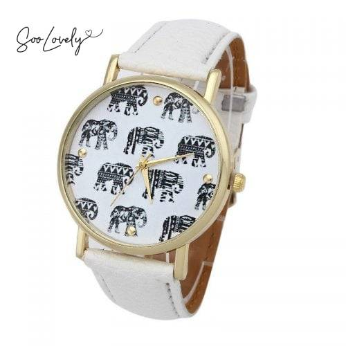 Elephant watch white-H015