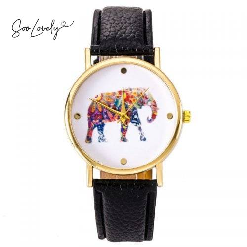Flower elephant watch-H019