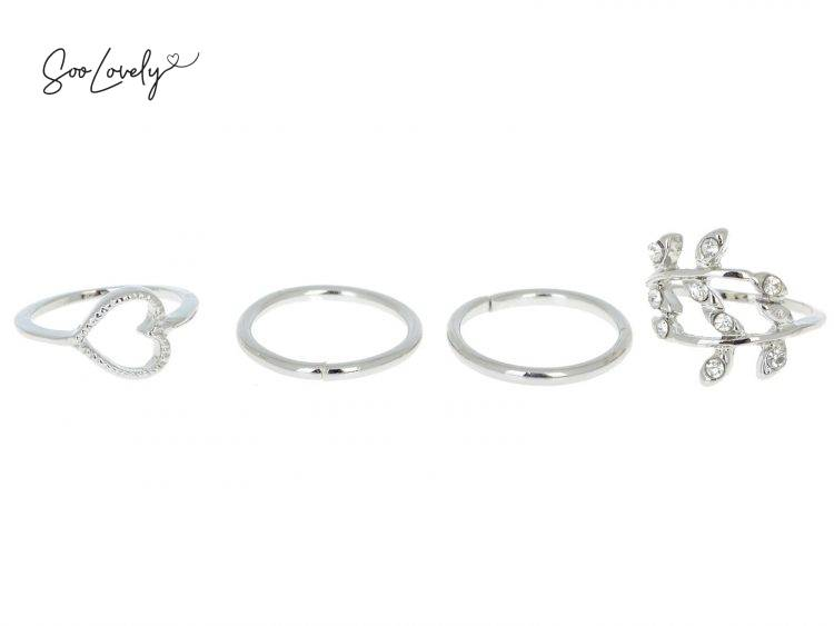 Leaf love ring set-R011