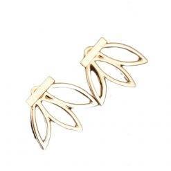 Lotus oorbellen goud-O025