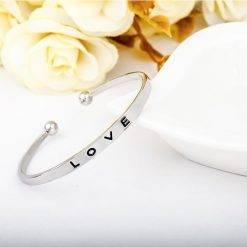 Love bangle bracelet-A004