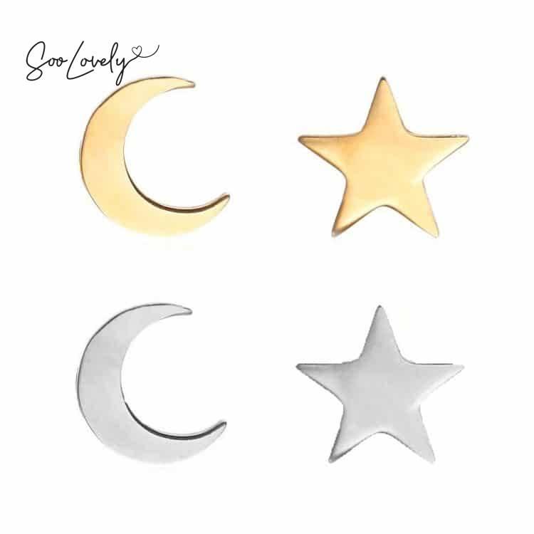 Maan en ster oorbellen-O027
