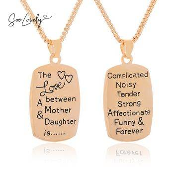 Mom necklace gold-TS040