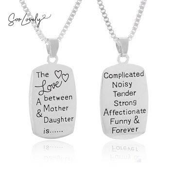Mom necklace silver-TS040