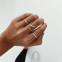Moon ring set-R022