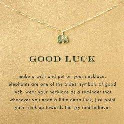 Olifant ketting 'GOOD LUCK'-TS046