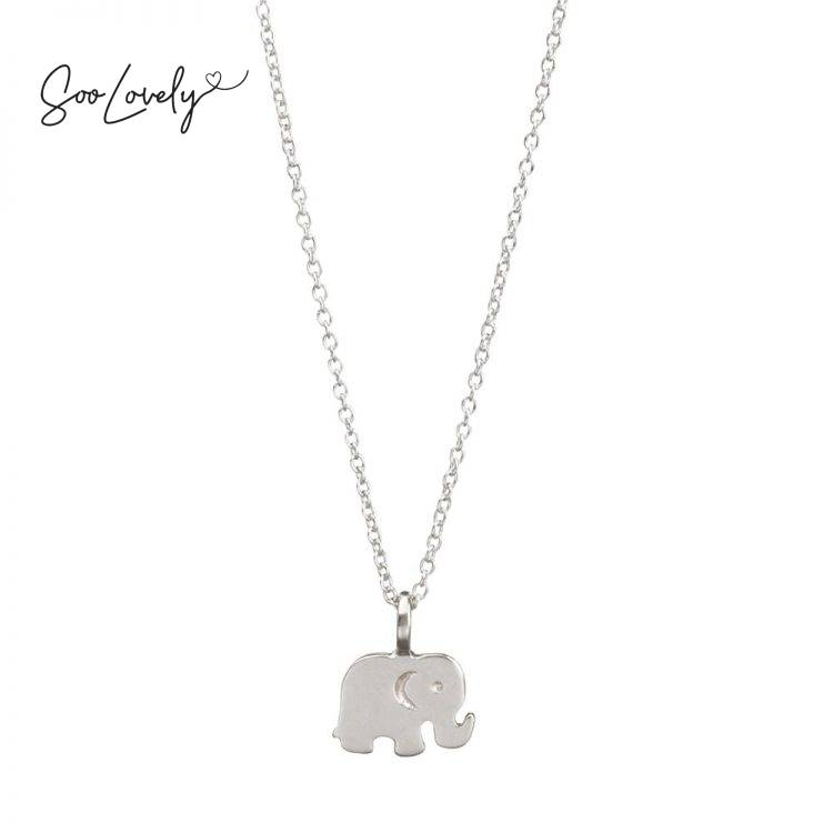 Olifant ketting zilver-K060
