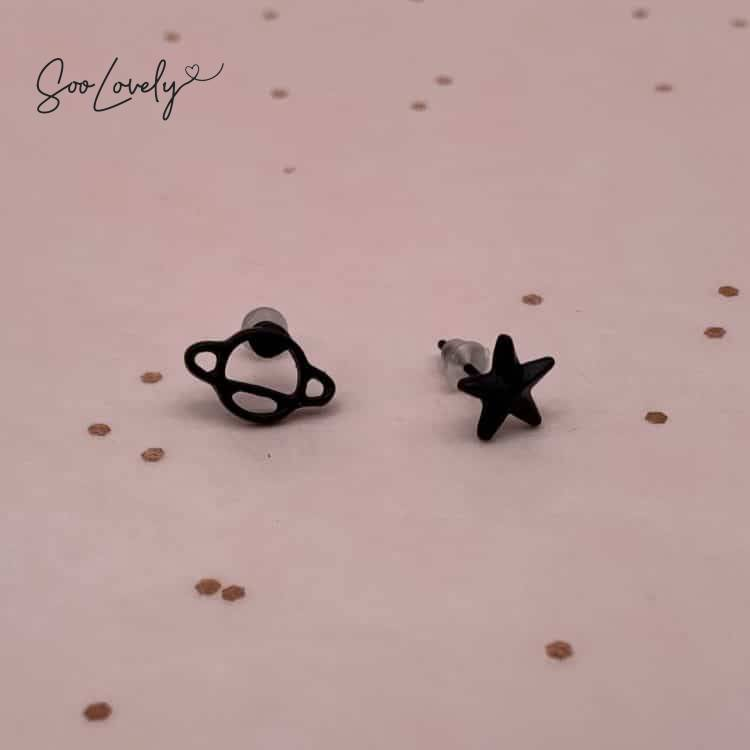 Planeet en ster oorbellen-1