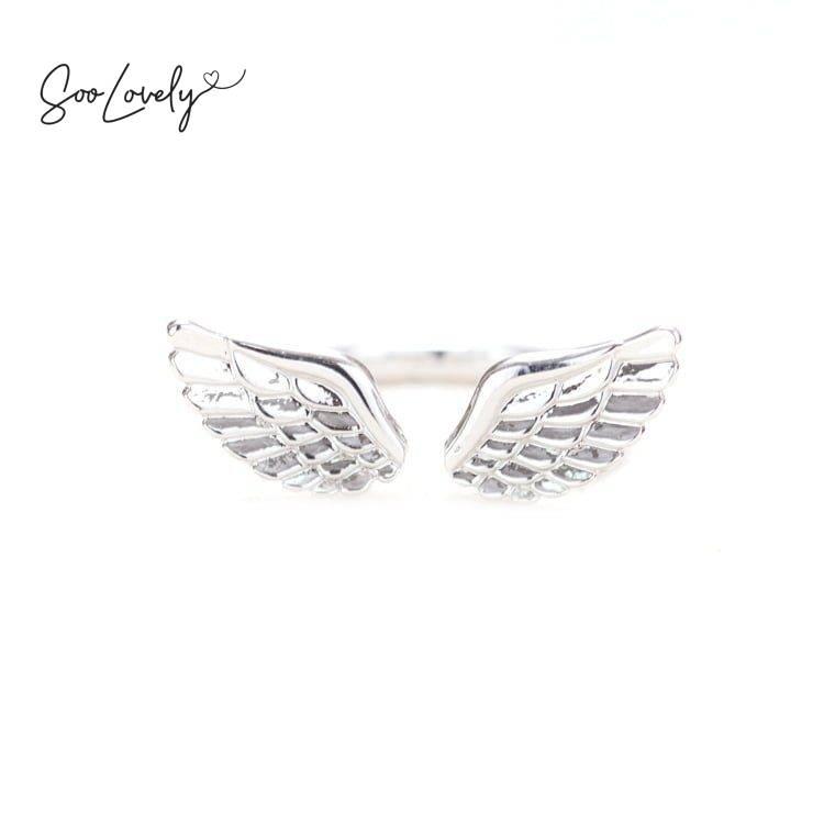 Ring met vleugels-R002