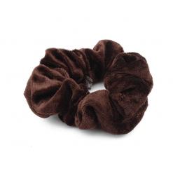 Scrunchie velvet bruin-SC002