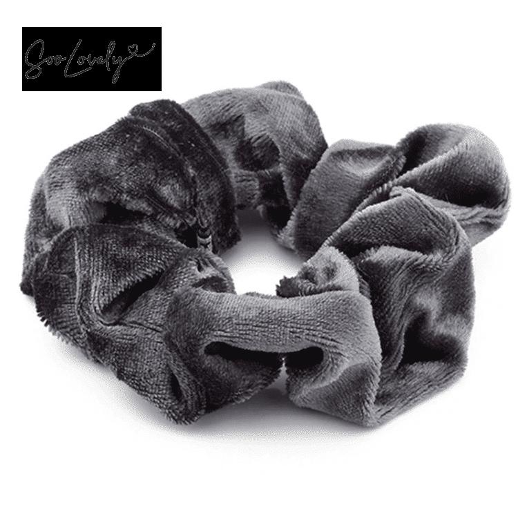 Scrunchie velvet grijs-SC003