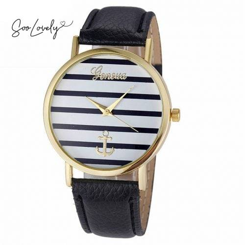 Striped anchor watch-H032
