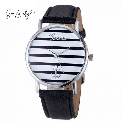 Striped anchor watch-H033