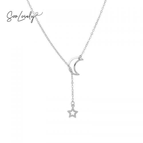 Tiny moon star ketting-K057