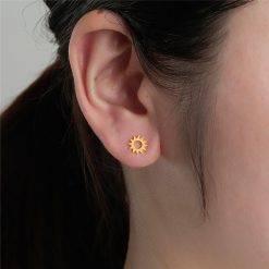 Golden sun oorbellen
