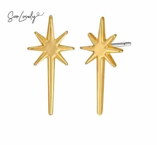 Goldstar oorbellen
