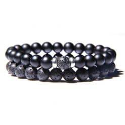 Lava armbanden zwart
