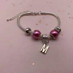 Letter charm armband