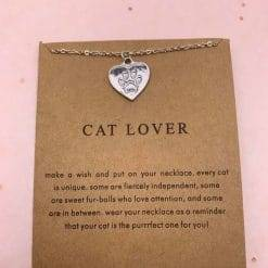Cat lover ketting