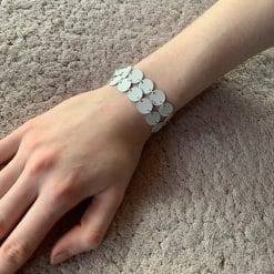 witte coin armband