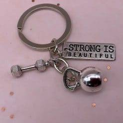 Strong is beautiful sleutelhanger SooLovely