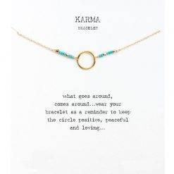 Armband karma blauw-goud-TS003