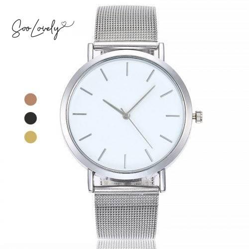 Minimalistisch mesh horloge-H028