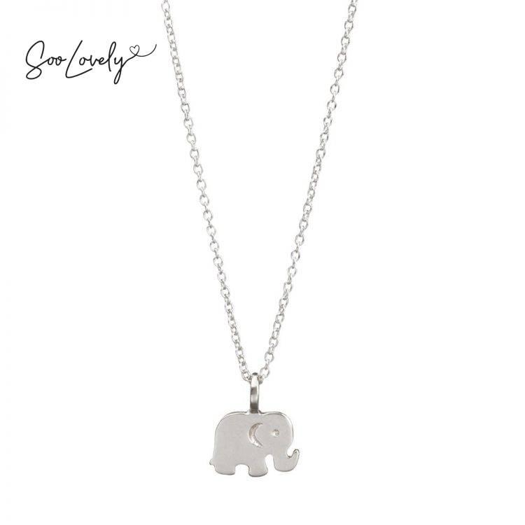 Olifant ketting zilver-K060