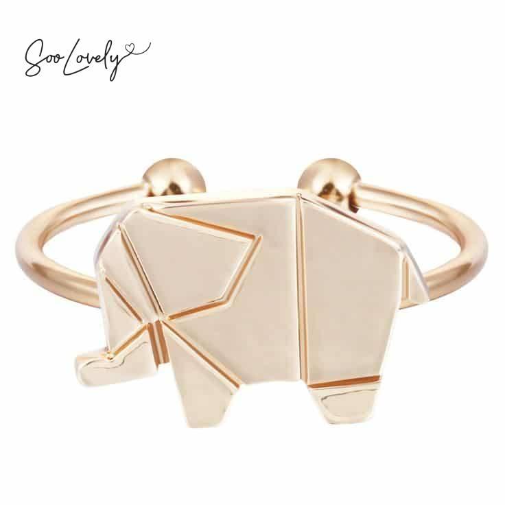 Origami olifant ring-R019