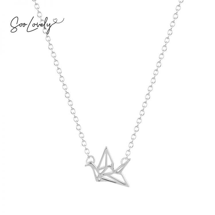 Origami silver-K006