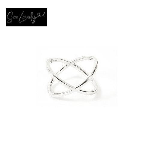 X ring zilver-R007