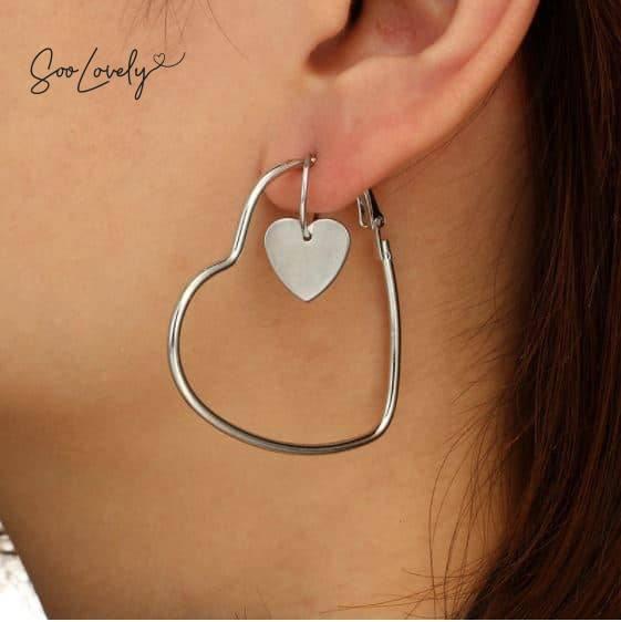 Hart oorbelringetjes