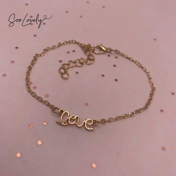 armband met love