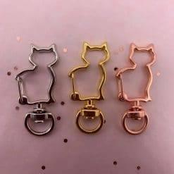 Kat sleutelhanger clip