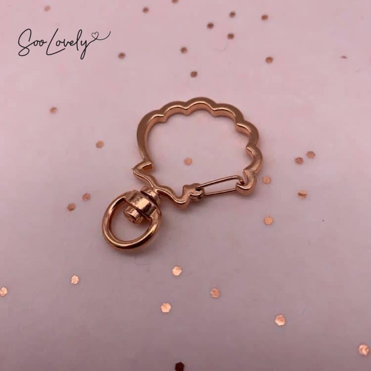 Schelp clip sleutelhanger