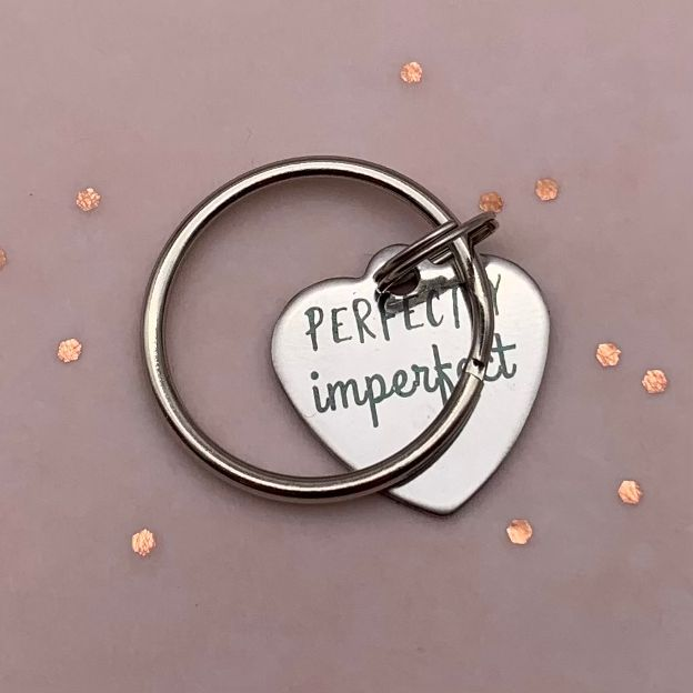 Perfectly imperfect sleutelhanger